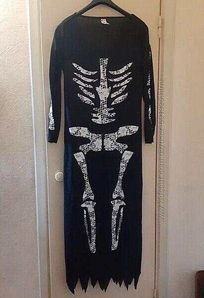 Платье скелет, длина 150 см.