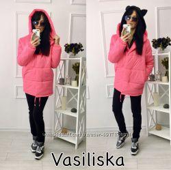 Куртка, зимняя  Очень тёплая черный, электрик, серый, мята, розовый, беж