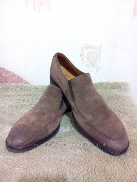 Замшевые туфли мужские с мехом