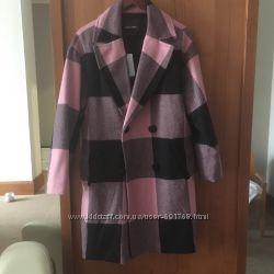 Denny rose пальто в клетку оригинал нов, коллекция