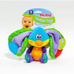 Мягкая игрушка с прорезывателем Зайчик Ушастик, Nuby -США