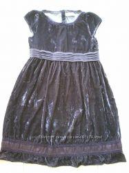 Платье нарядное велюровое, р-158