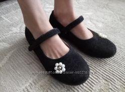 Туфельки замшевые, р-35