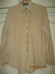 Рубашка вельвет в мелкий рубчик мужская 50 размер