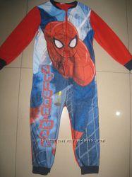 фирменный Primark флисовый человечек Человек паук 6-7л122-128см