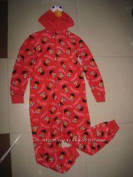 Махровый взрослый кигуруми, человечк-пижама, карнавальный костюм XS