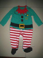 новогодний человечек- пижама на 6-9мес. 68-74см