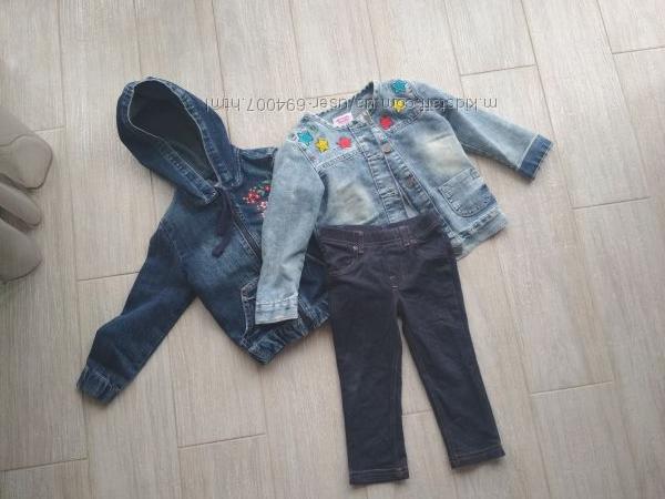 Джинсовые куртки Gloria Jeans на 2-3 года, отличное состояние