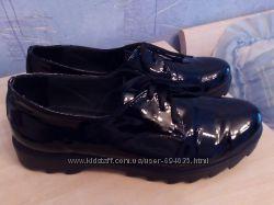 Туфли слипоны кожа лак демисезонные черные стелька 26, 5 см размер 41