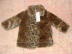 Стильная леопардовая шубка на девочку F&F