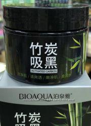 Маска на основе бамбукового угля для очищения пор  Bioaqua 140 г АКЦИЯ