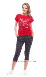 Пижама -футболка бриджи