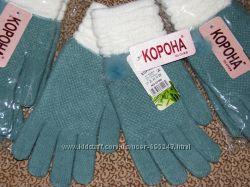Перчатки шерстяные женские