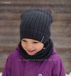 Комплект Вертикаль шапка снуд 1-3 года 46 48 50 весна осень