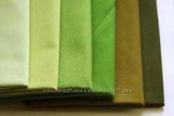 Однотонные ткани зеленые оттенки. Американский хлопок.