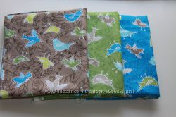 Ткани для рукоделия, пэчворка, Тильды. Птички. Хлопок США