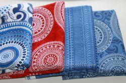 Ткани для пэчворка, рукоделия, Тильды. Синий, голубой. Американский хлопок.