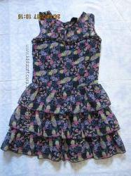 Платье шифоновое для девочки р. 140