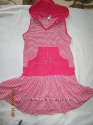Платье летнее с капюшоном р. 110-116 на девочку 5-6 лет