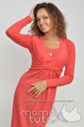 Платье длинный рукав для беременных и кормящих ТМ МАМА ТУТА