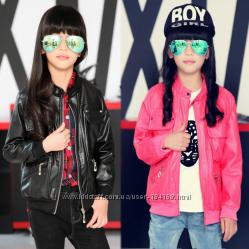 Курточки с кожи PU на девочек и мальчиков в наличии
