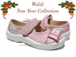 Мокасины детские праздничные текстильные р. 24-30 Тм Waldi Валди
