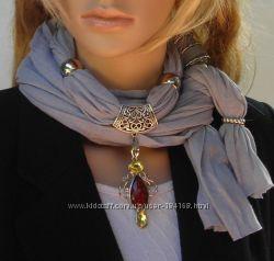 Шарф-ожерелье, шарф-колье, много вариантов расцветок