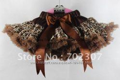 Леопардовая суперпышная юбочкадля девочек в наличии