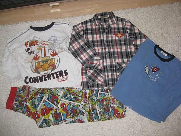 Пижамы, много разных, George,  Rebel, 6-8 лет