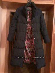 Стильный удлиненный пуховичек-пальто