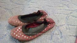 Туфли, балетки Mango, нат. замша, 30 размер