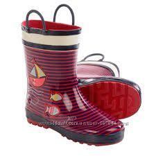 Сапоги Kamik Ahoy Rubber Rain Boots - Waterproof For Little Kids р. 33, 34