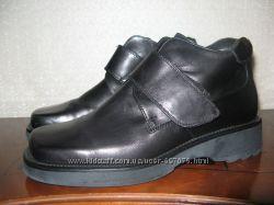 Фирменные кожаные ботинки-туфли JB Италия