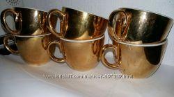 Чашки сервиз Royal Worcester Porcelain фарфор золочение