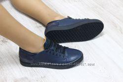 Кроссовки кожаные синие. Наличие