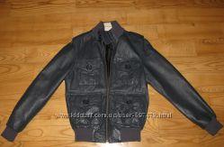 Кожаная куртка для мальчика 10-12лет