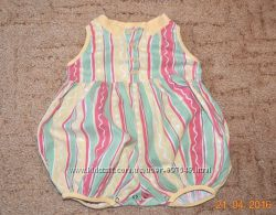 Одежки на лето для малышки  0-4 мес