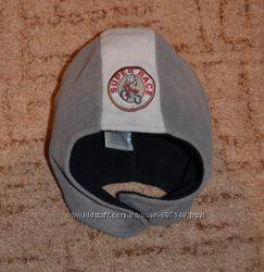 Шапка шлем для малыша зима флис  6-24 мес