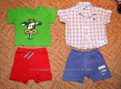 Фирменные футболки, рубашки для мальчика 6-12 мес