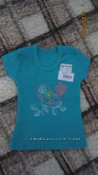 Новая бирюзовая футболка Baby Art р. 92см