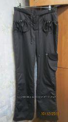 Стильные зимние тёплые женские чёрные штаны р. м