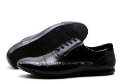 Туфли Falcon, р. 41-45, натур. кожа, синий, черный, код kv-2844