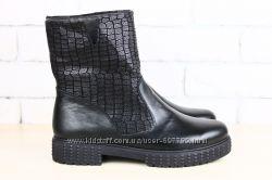 Ботинки из комбинированой кожи, р. 36-40, натур. кожа, код nvk-2294