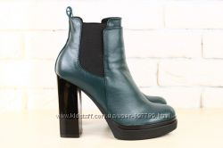 Ботинки на устойчивом каблуке, р. 36-40, натур. кожа, код nvk-2326