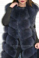 Распродажа натур. шубы, жилетки песец, норка, р. 42-58, супер цены от 5500