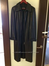 Продам женский кожаный плащ пальто