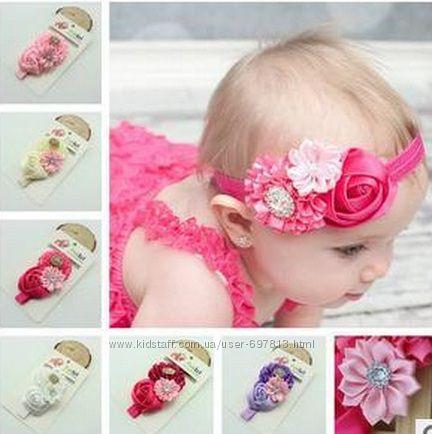 Резинки с цветами на голову для девочек своими руками