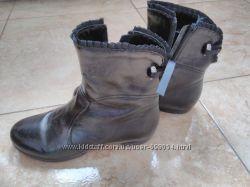 Демисезонные ботинки натур кожа обувала 3 раза