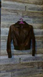 Куртка кожаная женская S, 46 размер