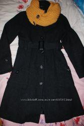 Пальто шерстяное Серого цвета Vila
